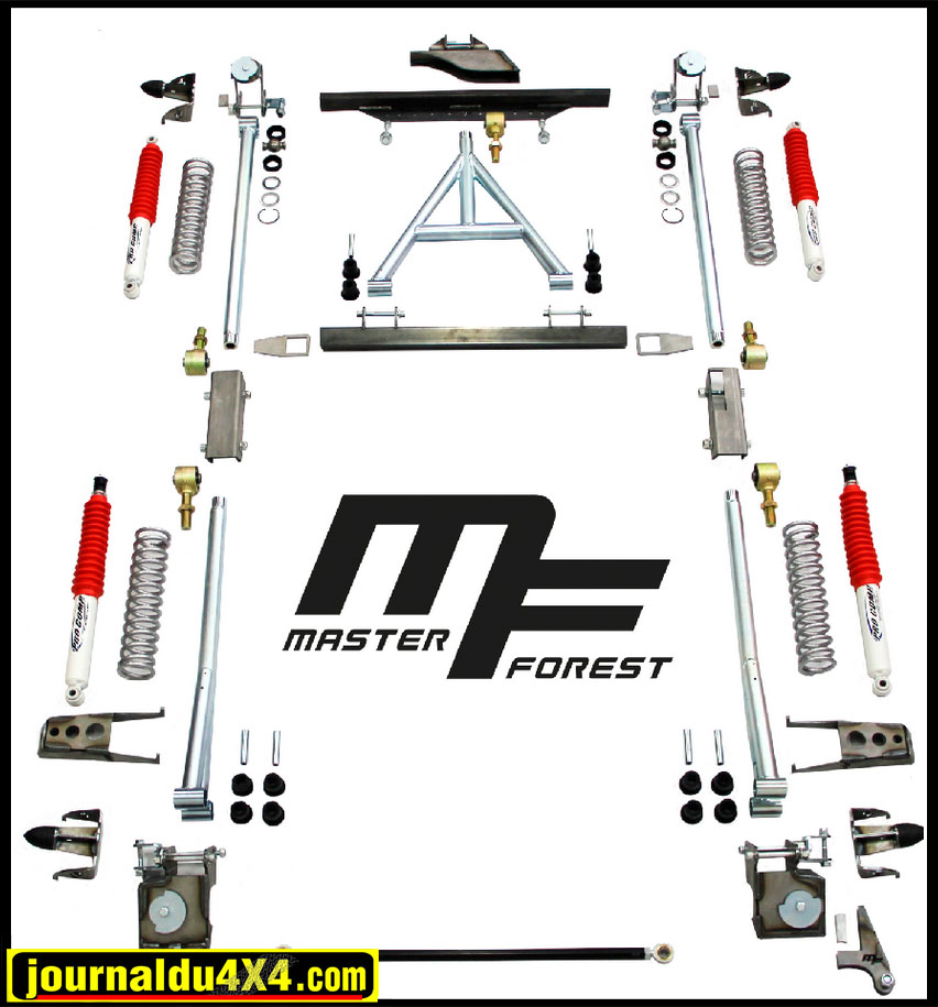 Kit suspension +10 cm ressorts hélicoïdaux MasterForest