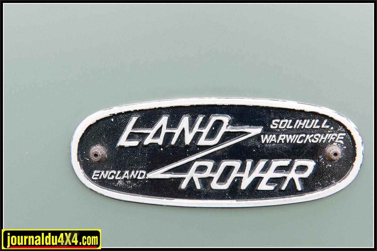 La plaque Land Rover