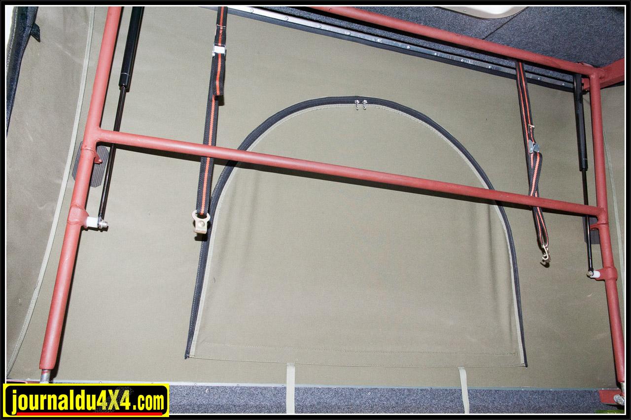 Système d'ouverture du toit relevable