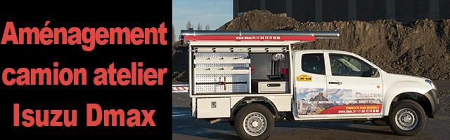 Aménagement camion atelier Isuzu Dmax