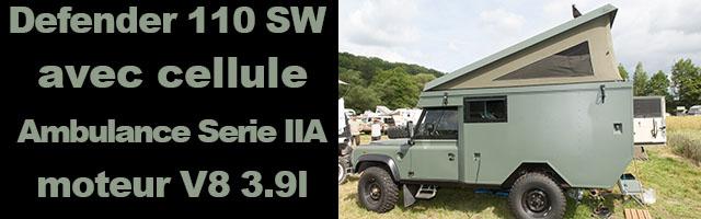 Defender 110 SW cellule Ambulance Serie IIA V8 3.9l
