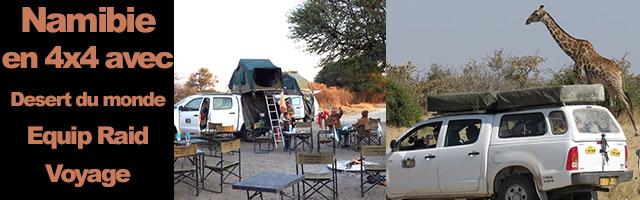 voyage 4×4 en Namibie avec Equip Raid Voyage