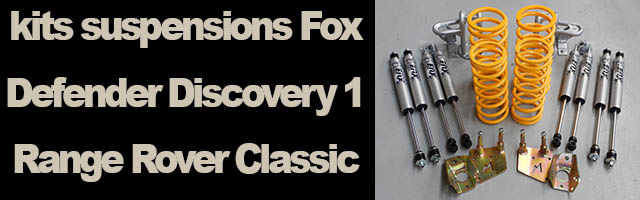 kits suspensions Fox land rover