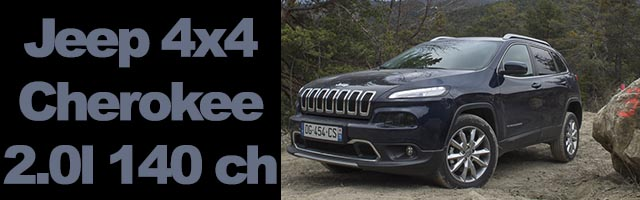 Jeep Cherokee 4×4 Limited 2.0l 140 ch