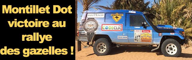 Montillet – Dot : victoire au rallye des gazelles !
