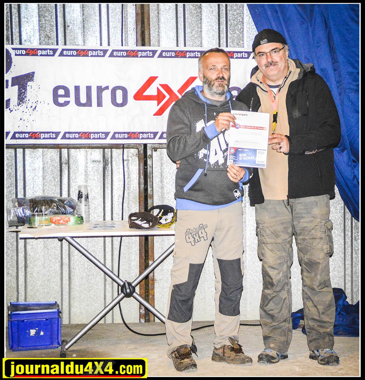 La remise des bons d'achats Euro4x4Parts
