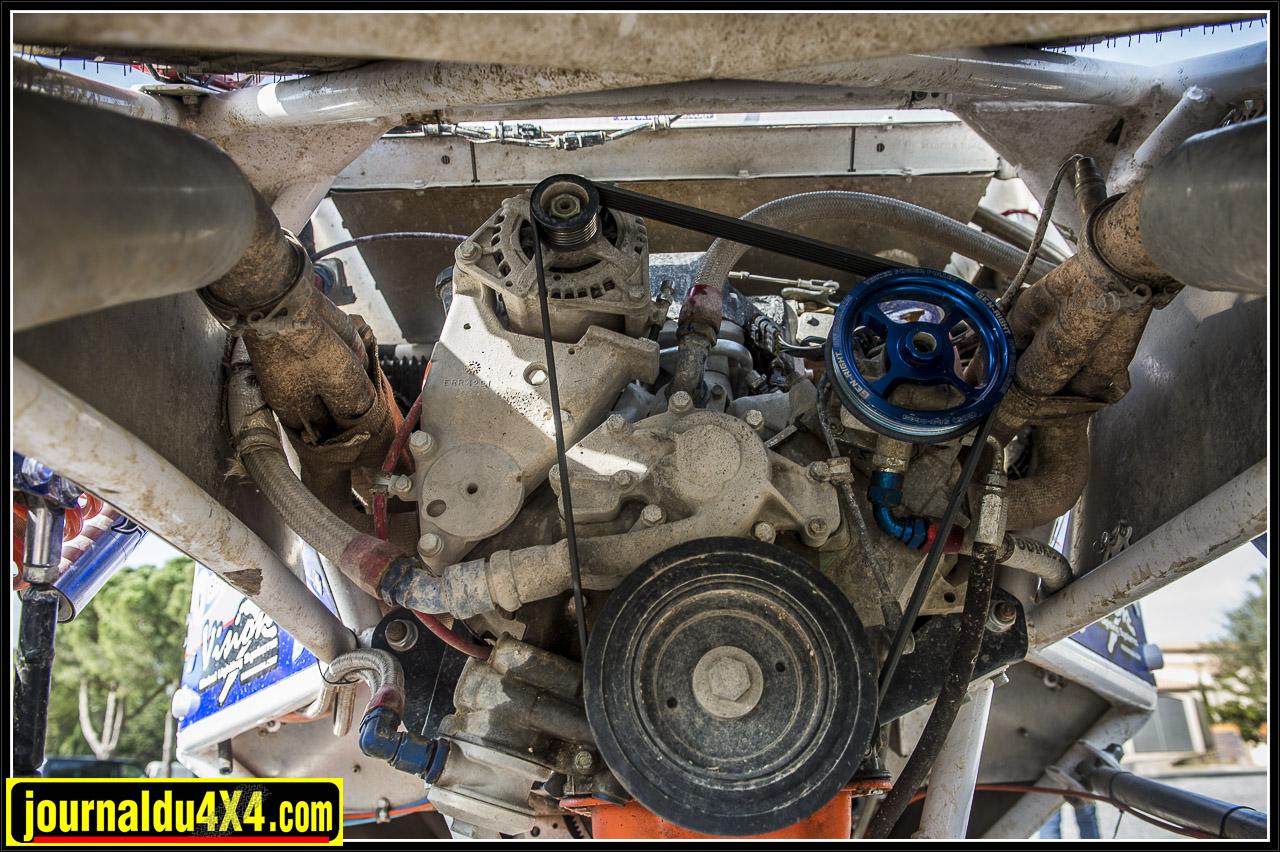 un beau V8 4.0l Rover avec un boîtier de gestion Sybel