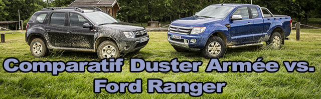 Comparatif Duster Armée vs. Ford Ranger