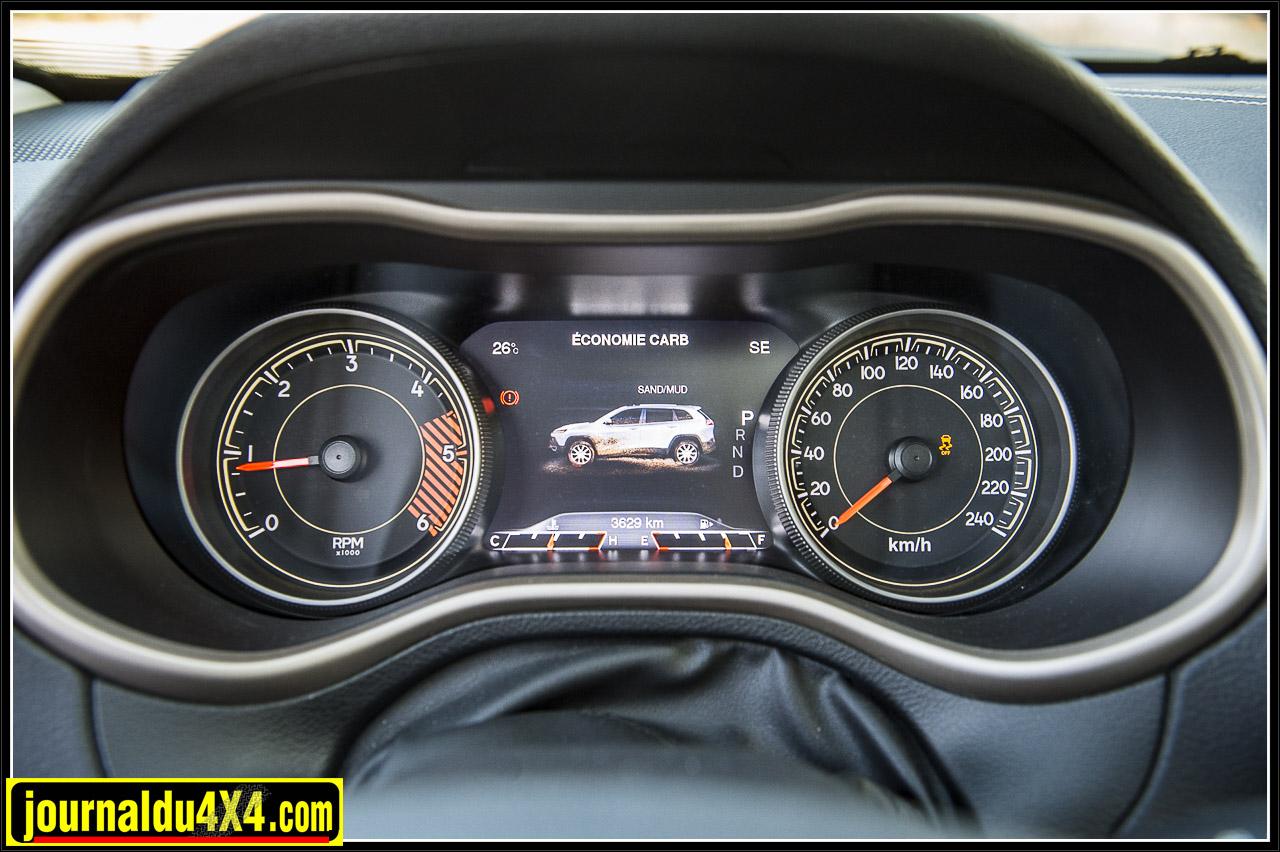 la transmission Jeep Active Drive I permet de choisir le mode selon le terrain