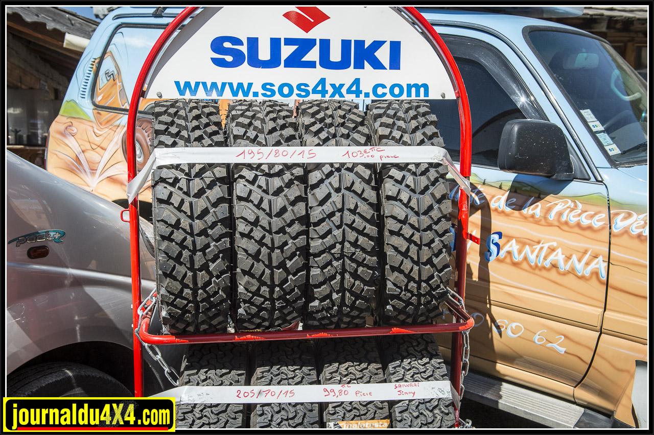 pneus pour samurai