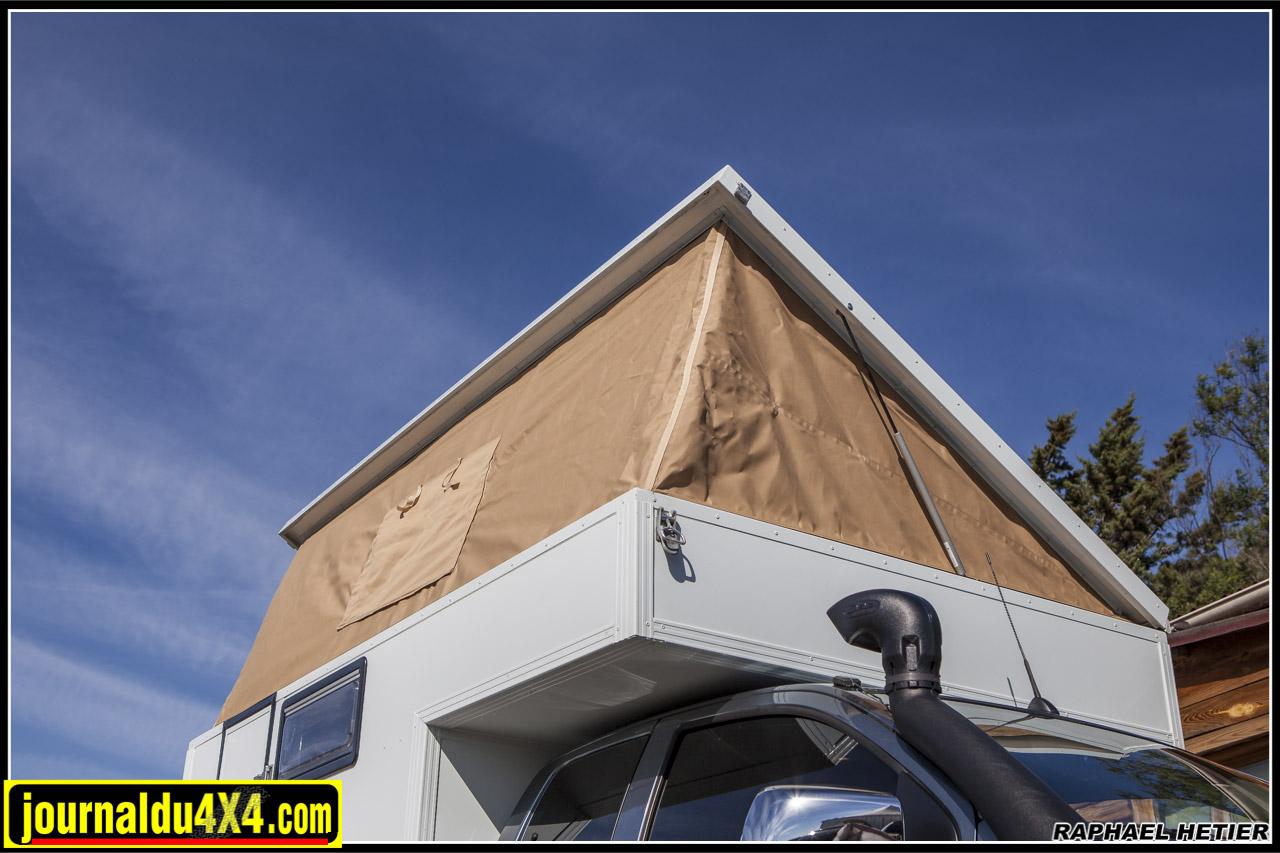 montage du toit relevable sur vérin