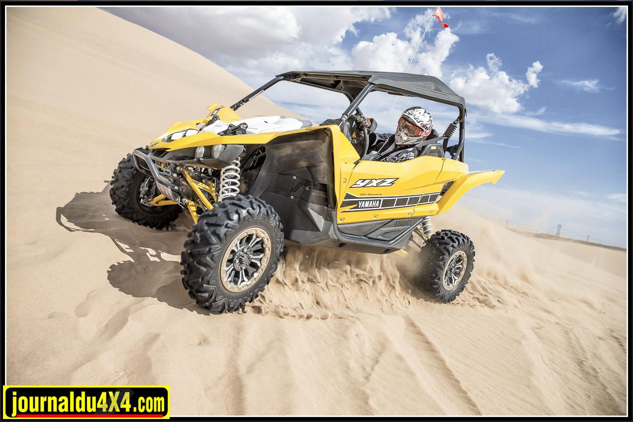 un engin léger et performant, un plaisir de conduite augmenté par la boîte séquentielle, le bonheur pour les dunes et le fun