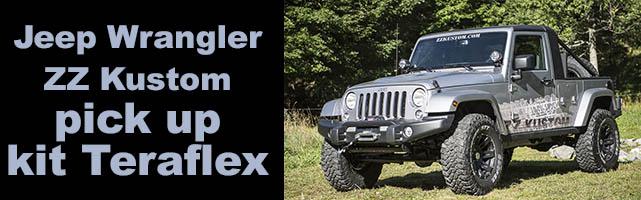 Jeep Wrangler pick up : ZZkustom relook la JK avec un kit Teraflex