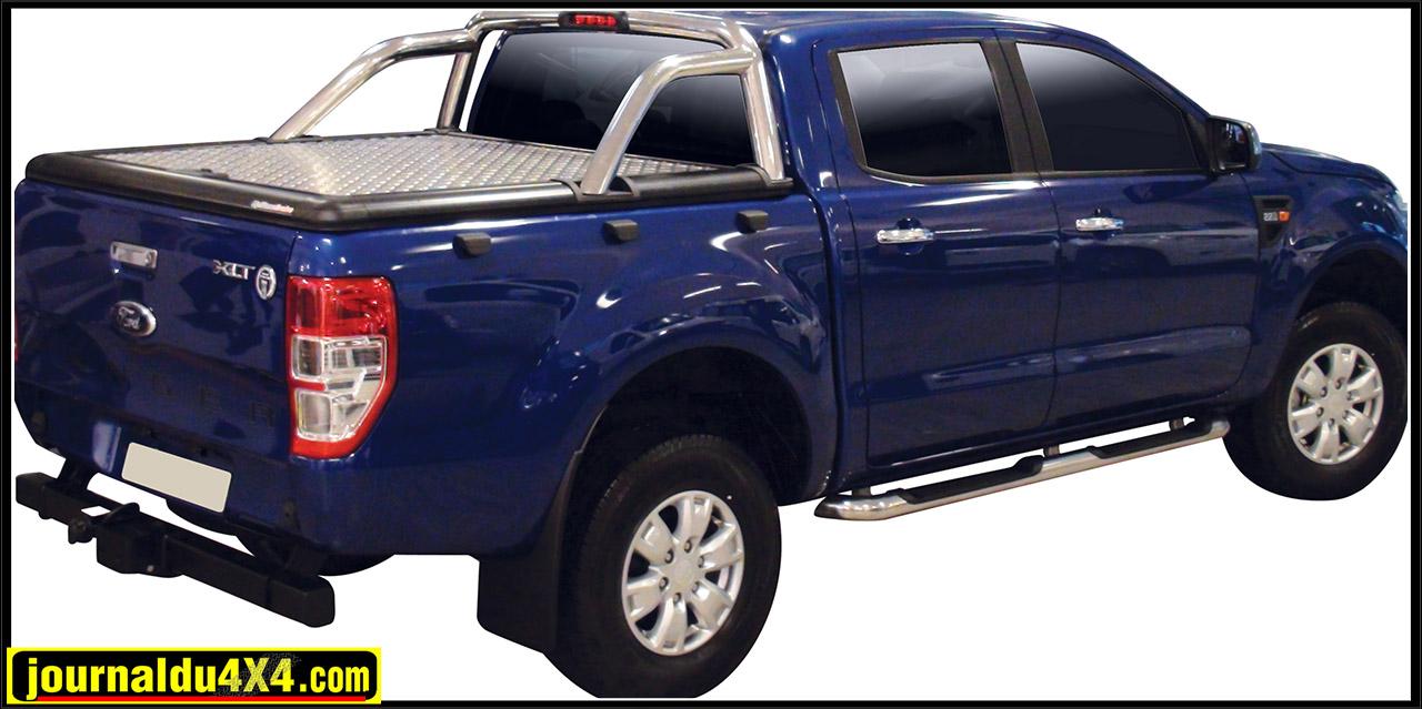 Tonneau cover aluminium Ford Ranger double cab et super cab