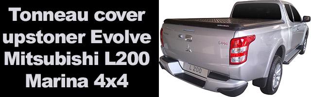 tonneau cover en alu noir Mitsubishi L200 triton 2016