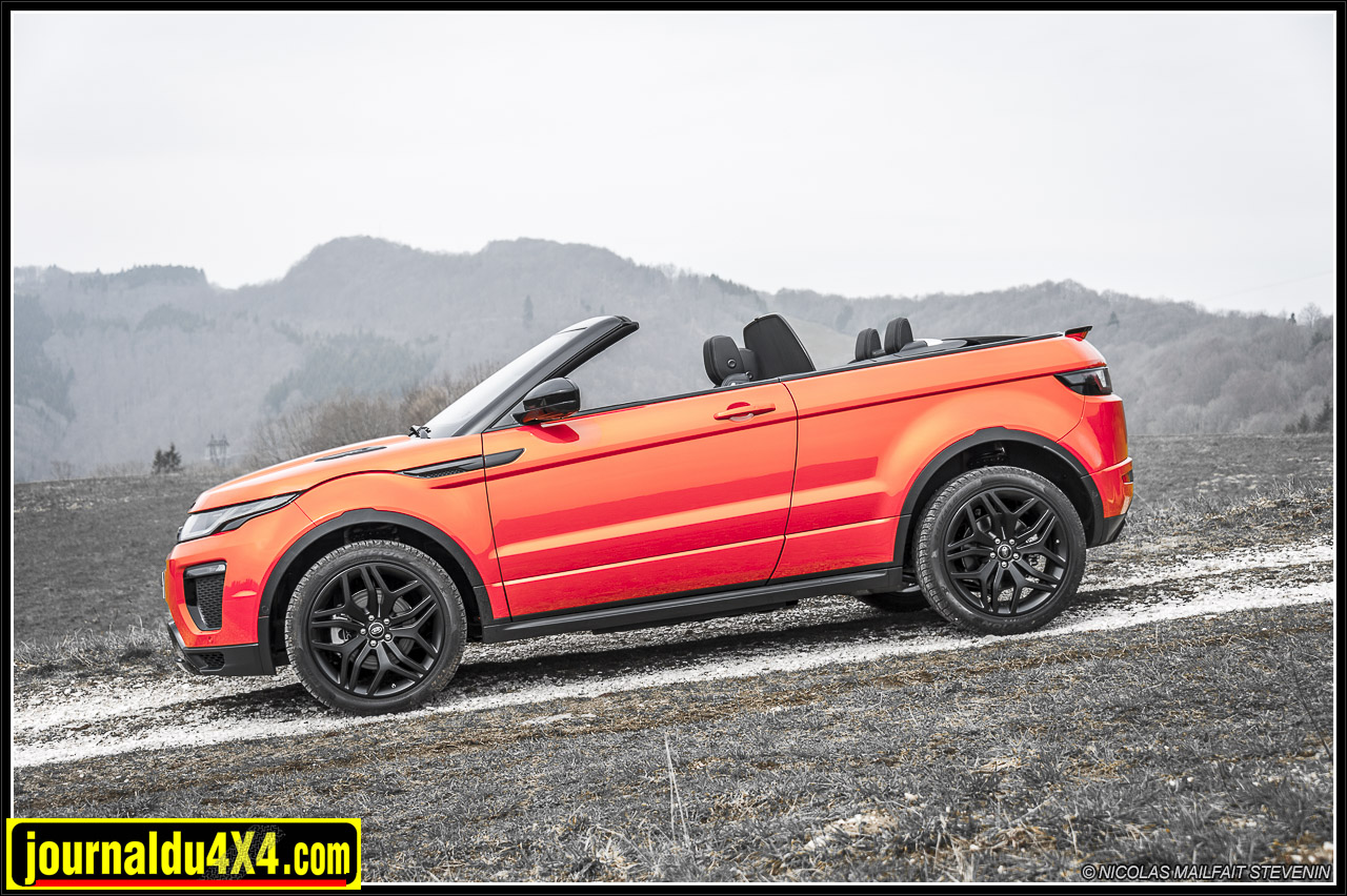 essai range rover evoque cabriolet td4 180ch magazine 4x4 suv. Black Bedroom Furniture Sets. Home Design Ideas