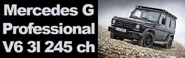G350d  4×4 Professional 2016 l'icône Mercedes est de retour