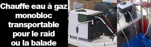 Chauffe eau pour 4×4, van aménagés, cellules, de l'eau chaude partout en voyage