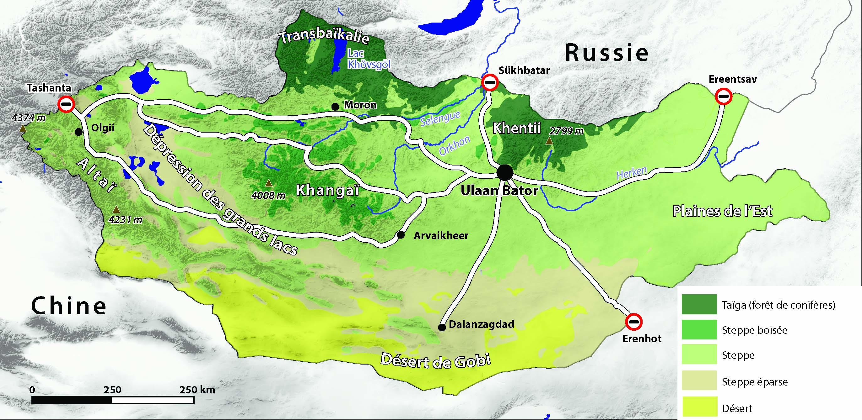 La crte de la Mongolie, préparez donc votre 4x4 pour y passer vos vacances !