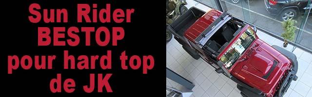 Sun Rider BESTOP pour hard top de JK