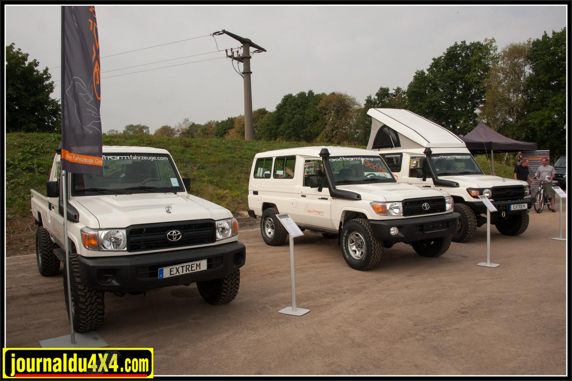 Extrem Fahrzeuge qui expose toute la gamme des séries 7 sans oublier un FJ Cruiser tout neuf.