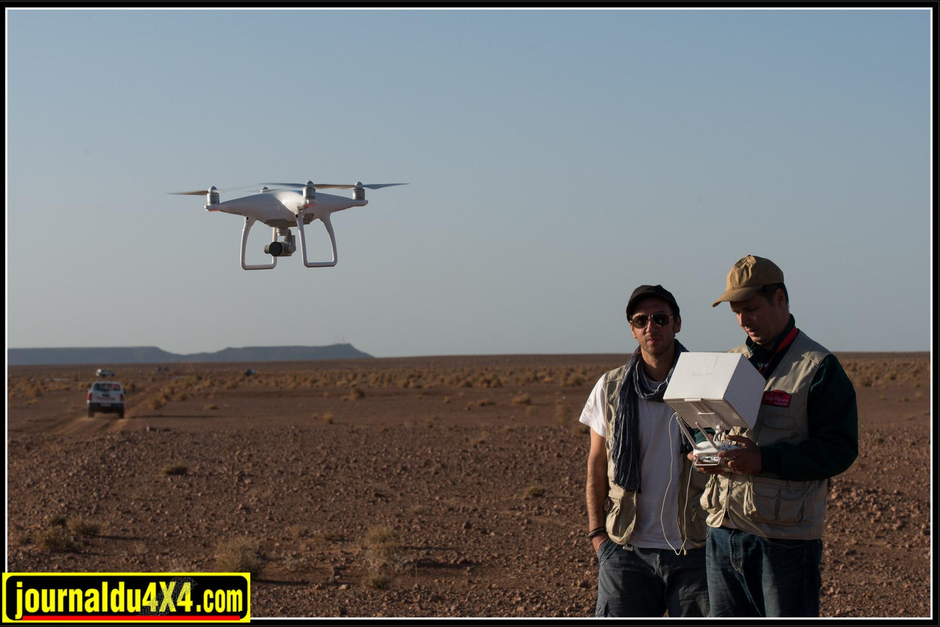 Une équipe de cadreurs équipée d'un drone a suivi tout le raid.