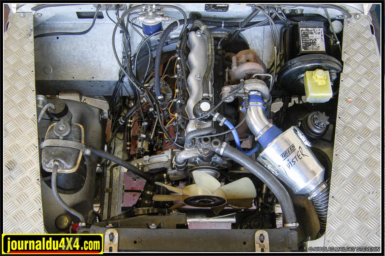 Le 2,5 turbo «Falcon», pas une ride une foie reconditionné. Le gros filtre «Twister» Green participe à son second souffle