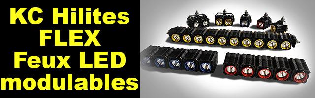KC Hilites Flex les LEDs modulables pour votre 4×4