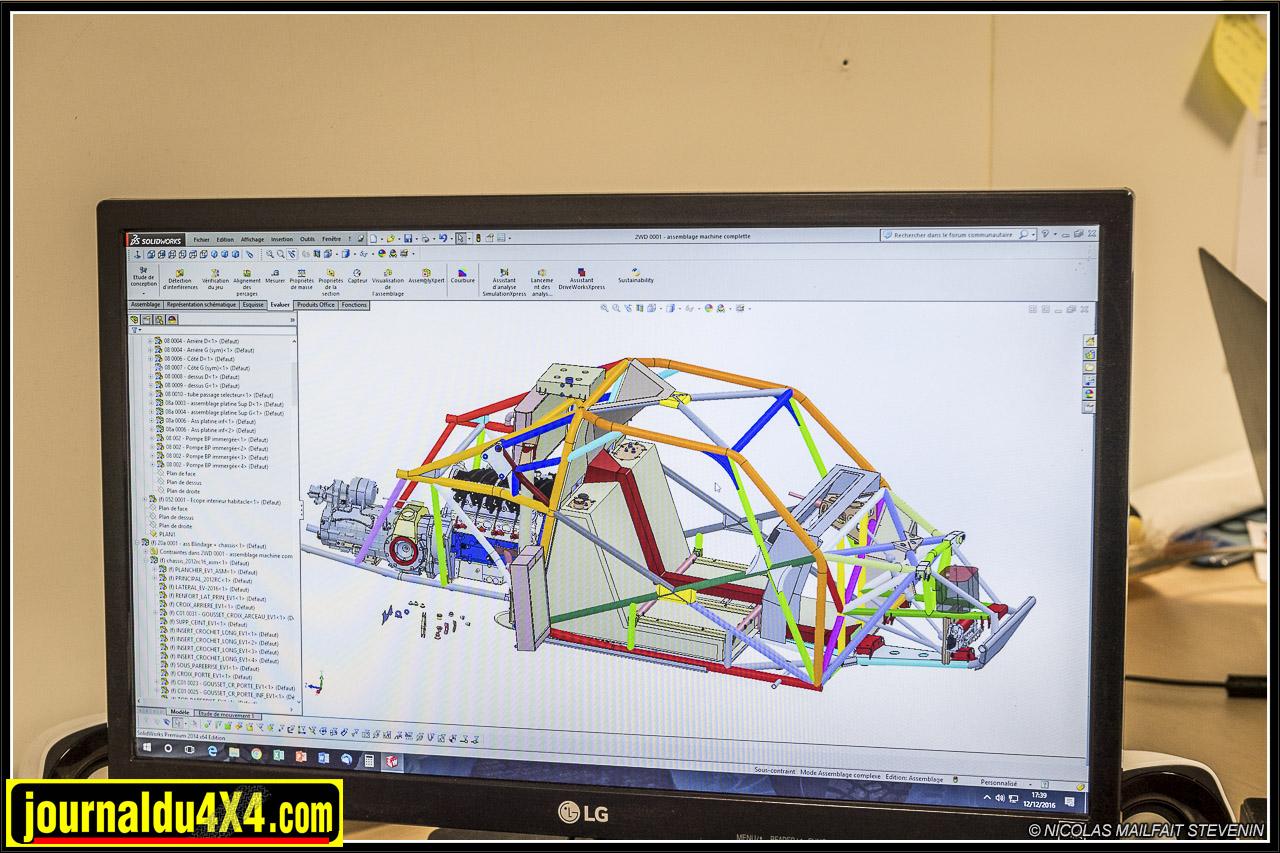 le châssis tubulaire du buggy de Two Wheels Drive a été numérise afin de faciliter ses futurs développements
