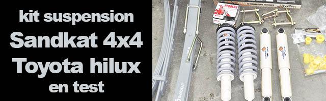 SandKat 4×4 : test kit suspension sur Toyota Hilux
