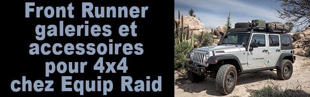 Front Runner galeries et accessoires pour 4×4 chez Equip Raid
