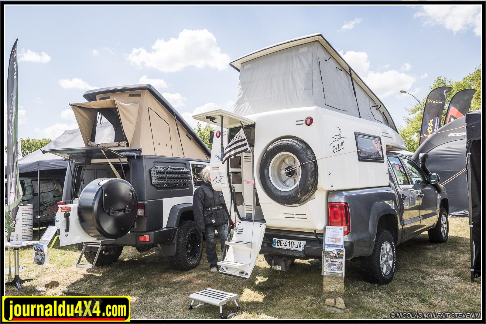 cellule gazell et toit dépliant pour jeep jk