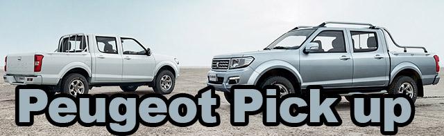 Peugeot Pick Up pour l'Afrique …