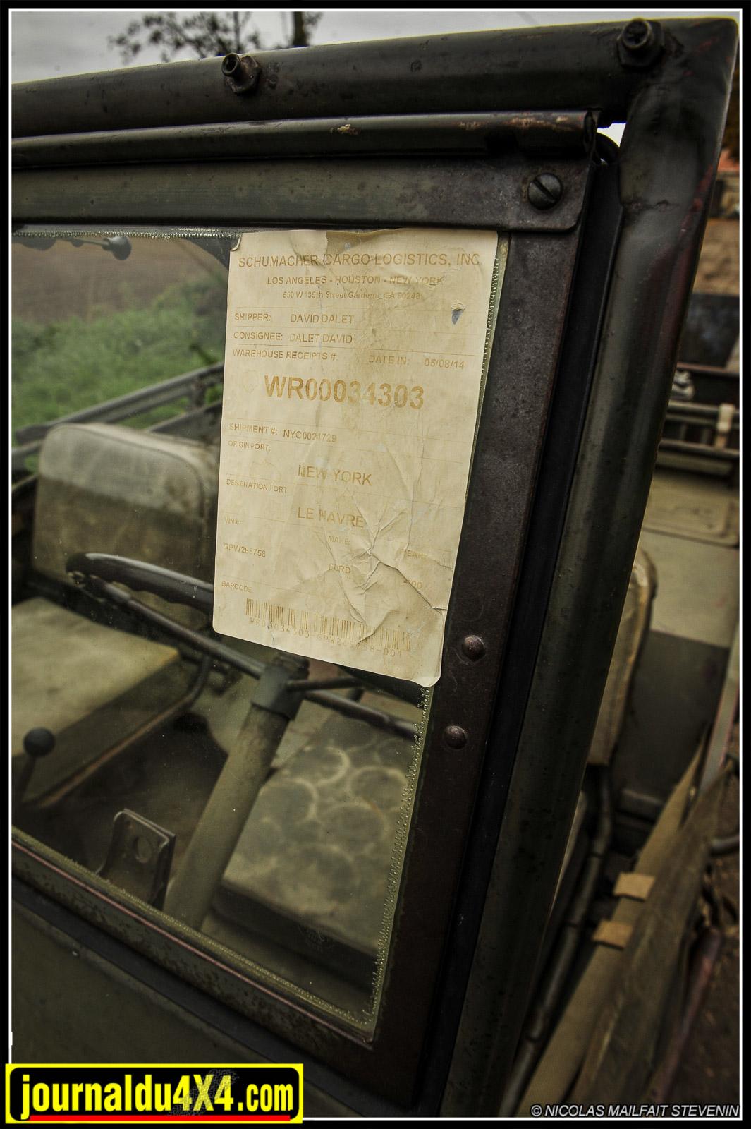 L'étiquette date d'il y a quelques mois…New York-Le Havre, enfin le débarquement 65 ans après le Normandie