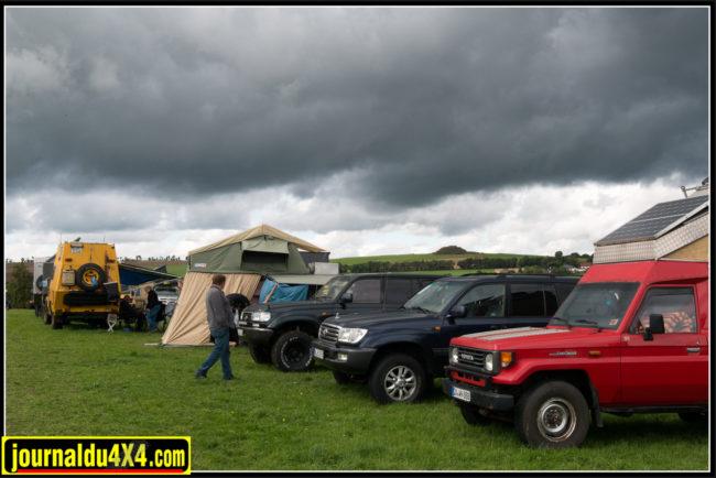 La météo a été très changeante tout au long du week-end et nous n'avons pas échappé à la pluie.