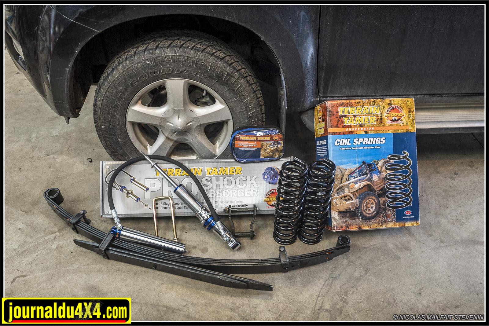 Essais et montage d'un kit de suspension Terrain Tamer sur Isuzu Dmax