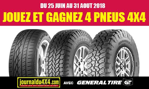 Gagnez 4 pneus avec General Tire