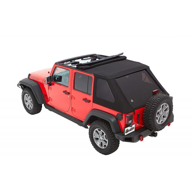 Capotage Bestop Trektop NX plus noir Jeep Wrangler JK 2007-2018