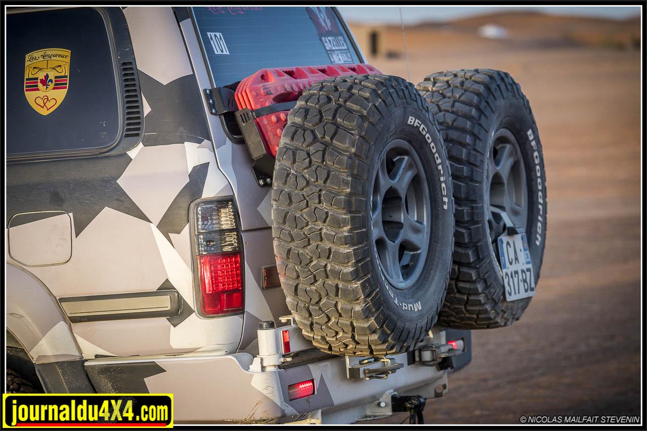 porte roue Kaymar pour HDJ 80 et support pour deux roues de secours