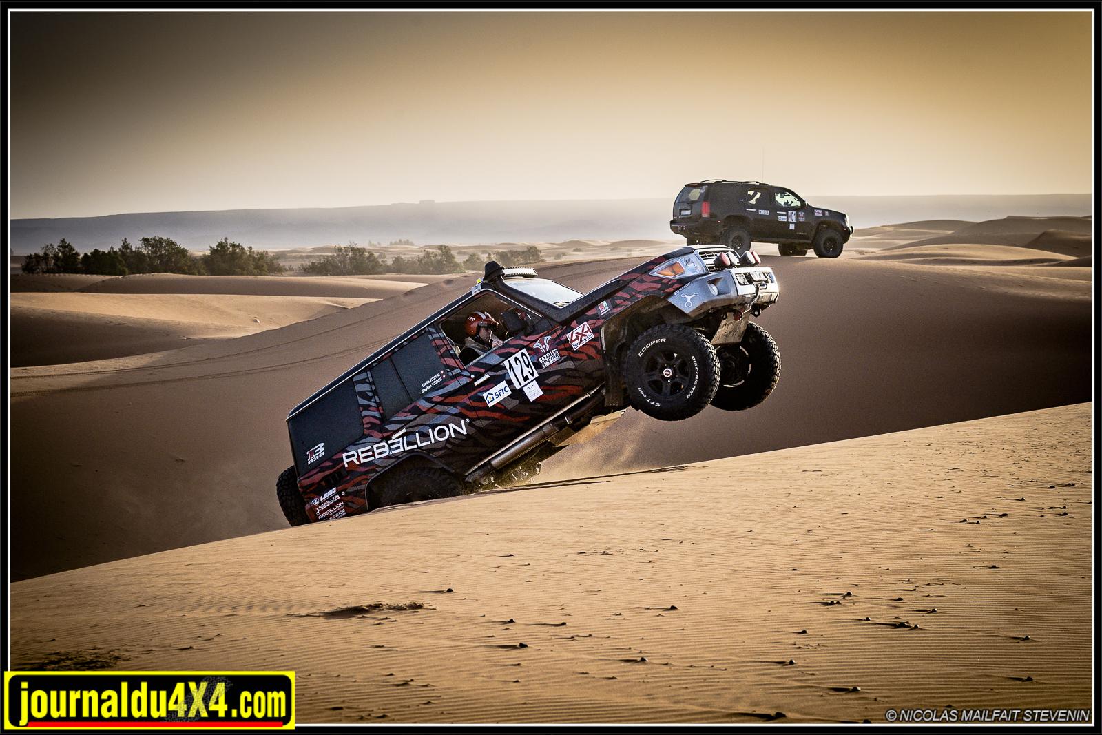 Avec trop de gaz on saute les dunes !