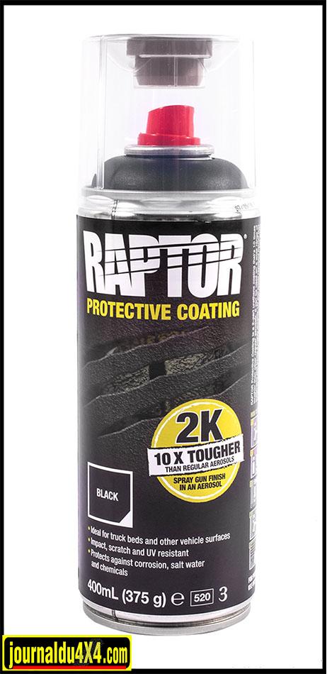raptor en bombe aerosol