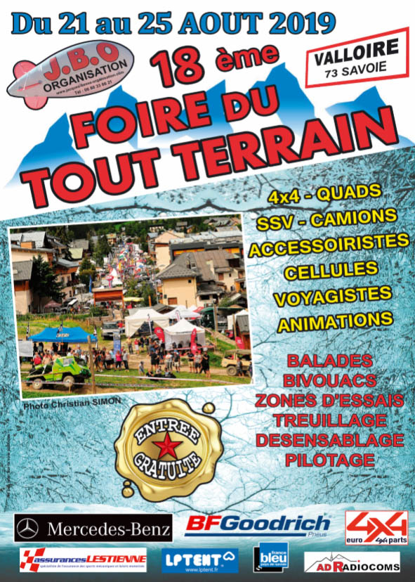 Foire du tout terrain à Valloire MERCREDI 21 août au DIMANCHE 25 août 2019