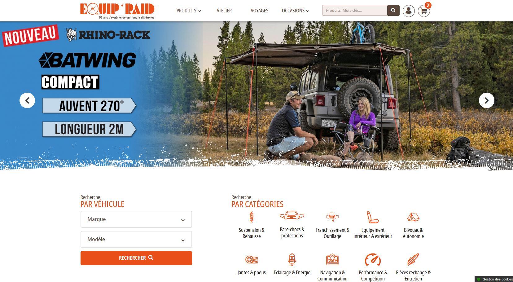 Equip'Raid ouvre son nouveau site internet