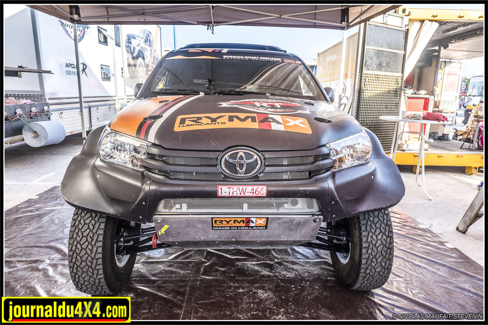 Rallye Morocco Desert Challenge 2019 visite du parc fermé