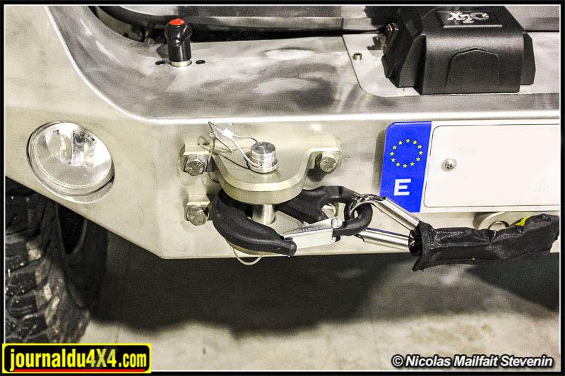Crochet de remorquage pour Jeep Wrangler en aluminium