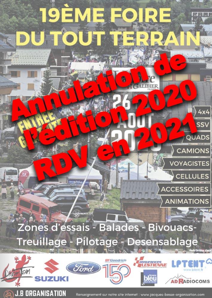 Annulation de la Foire de Valloire 2020