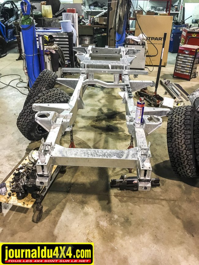 châssis galvanisé pour le land rover defender 110