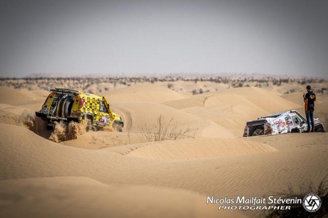 Le Desert Warrior est un peu planté entre deux dunes