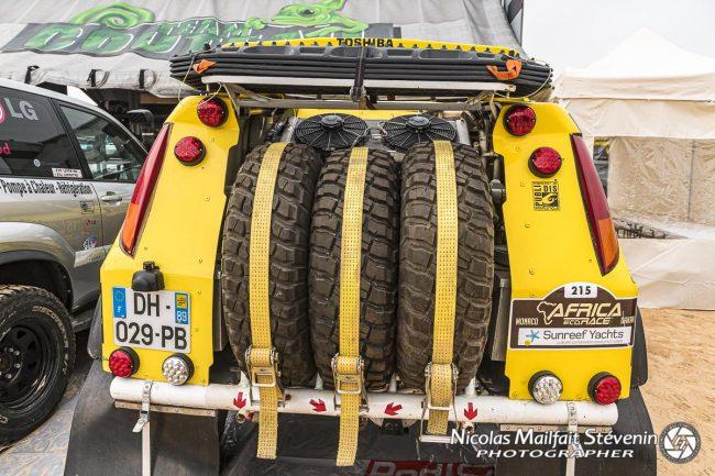 Trois roues de secours