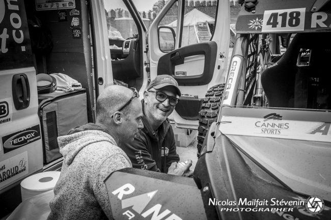 Sylvain Mautret et son copilote Laurent Lichtleuchter